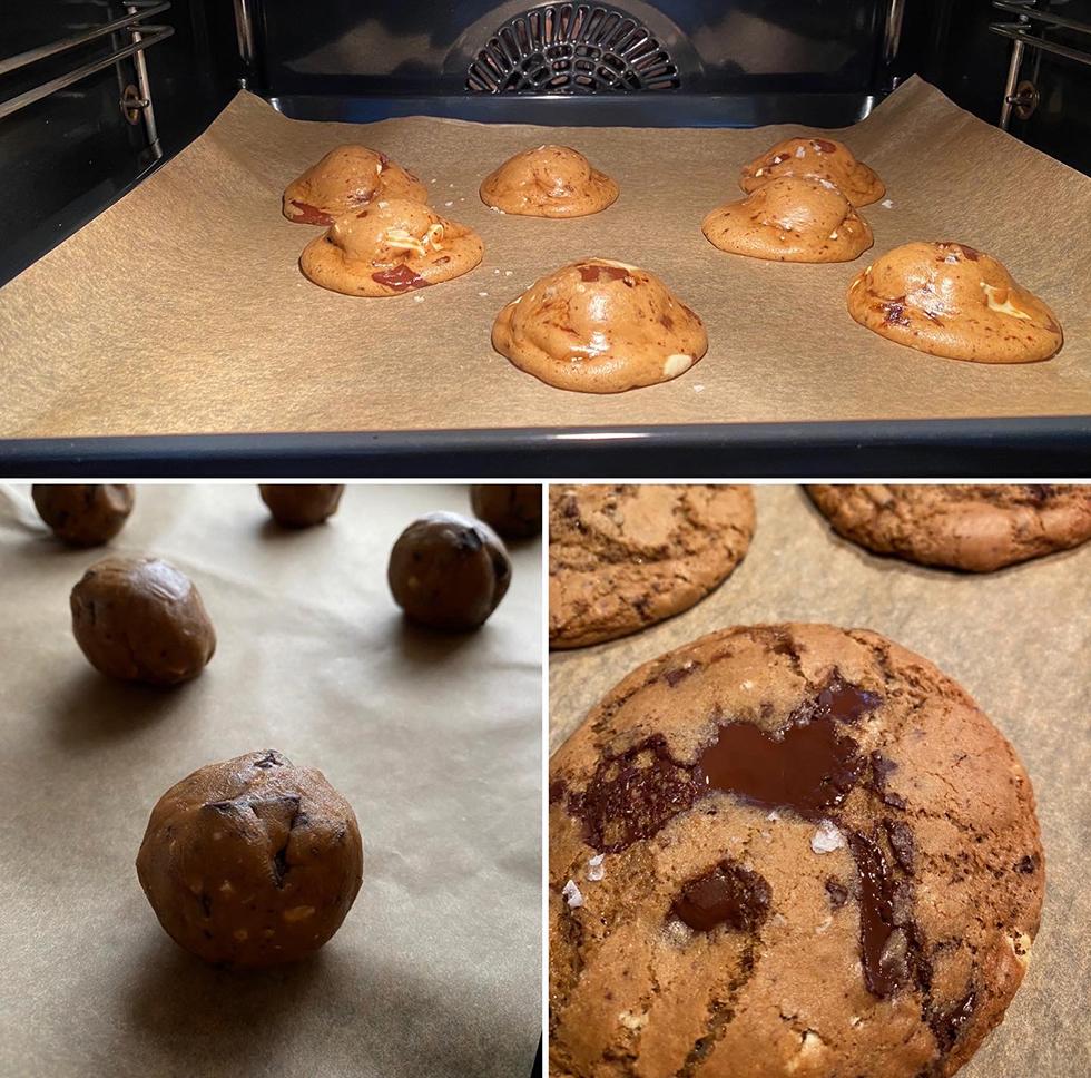 Chocolate chip cookies med surdeg och brynt smör