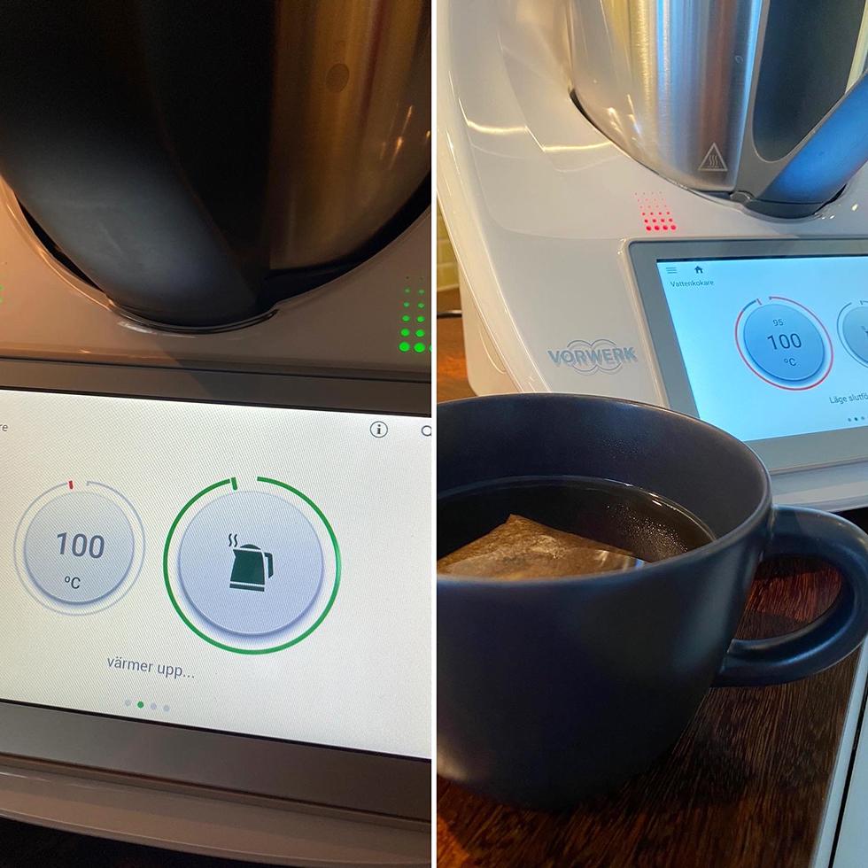 Koka vatten i en thermomix