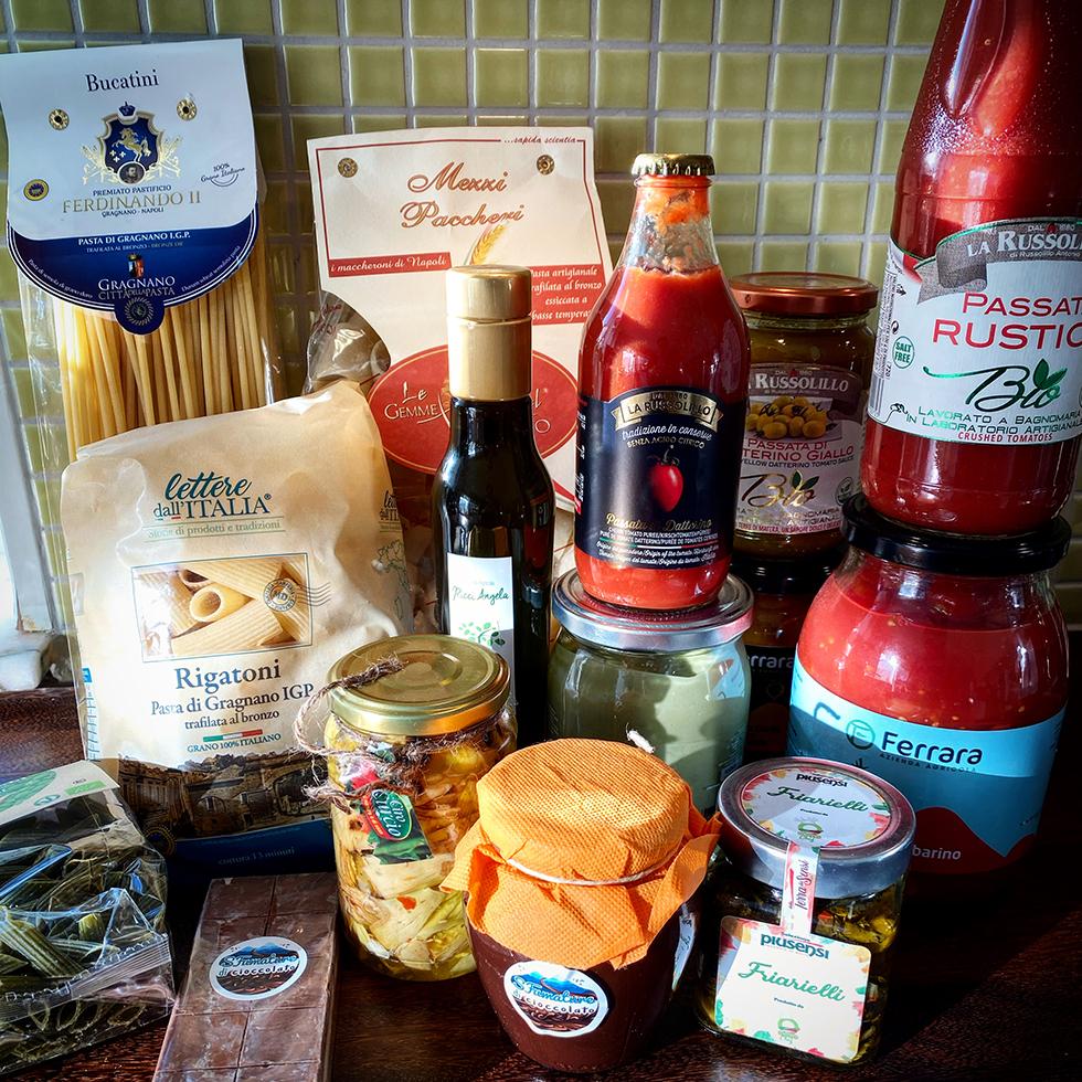 Direkt från den italienska marknaden, härliga produkter