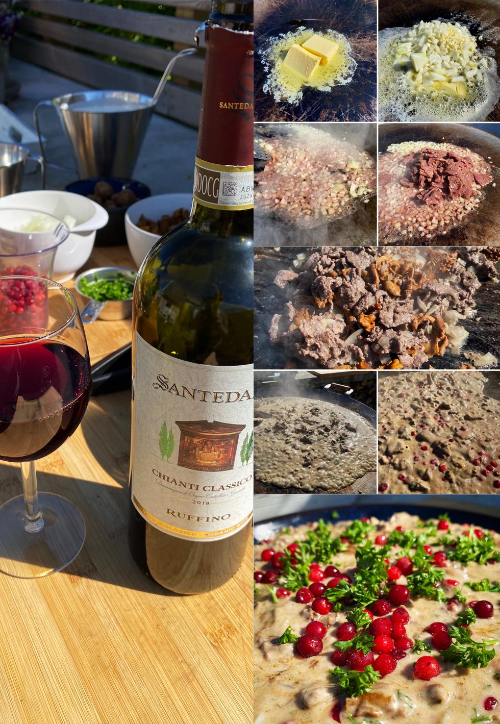 renskavsgryta och rödvin