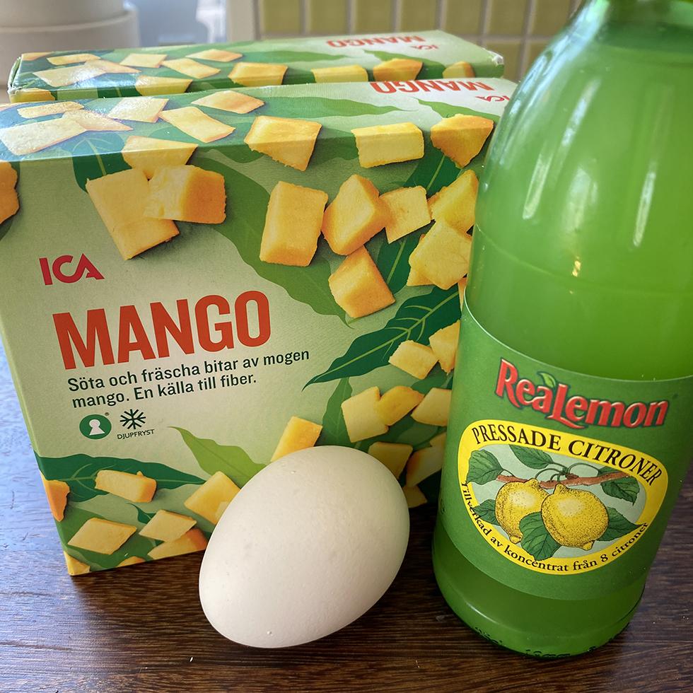 mango ägg citron socker